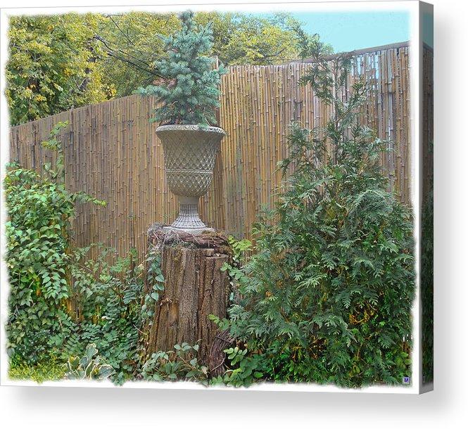 Bamboo Fence Acrylic Print featuring the photograph Garden Decor 2 by Muriel Levison Goodwin