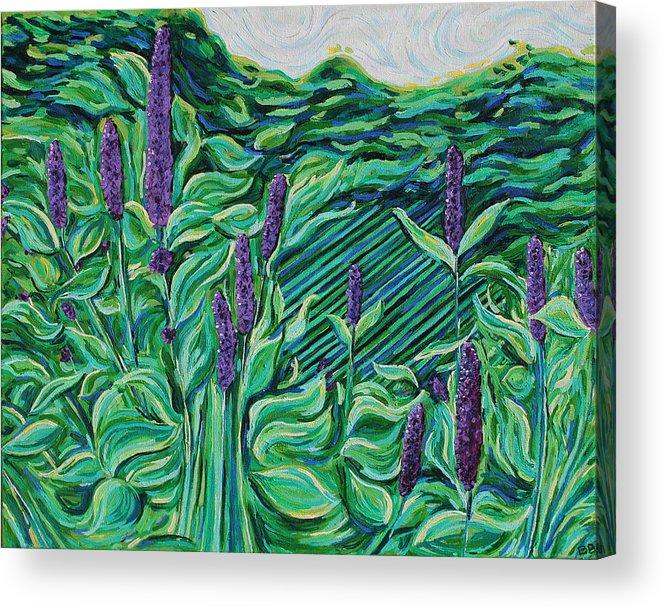 Garden Acrylic Print featuring the painting Garden Mint by Bridget Brummel