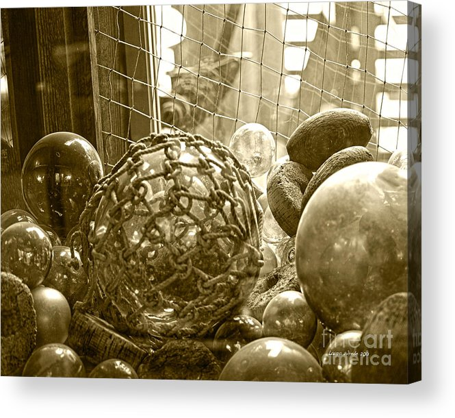 Ocean Floats Acrylic Print featuring the photograph Glass Balls Japanese Glass Buoys by Artist and Photographer Laura Wrede