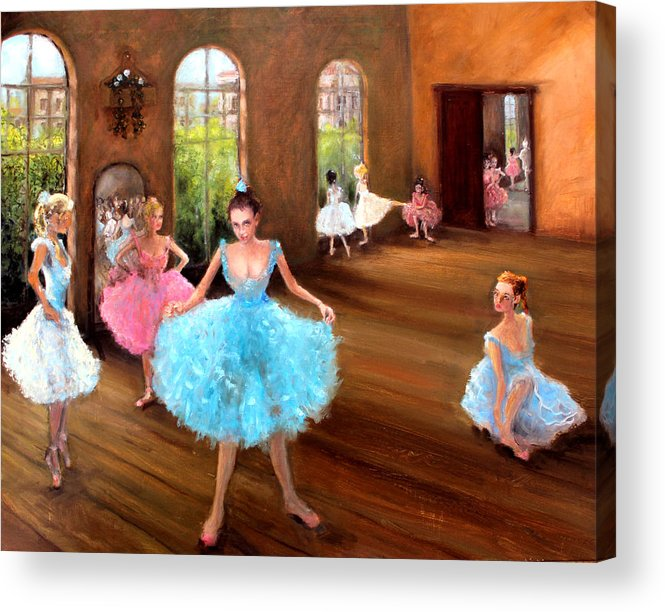 Hall Of Dance Acrylic Print featuring the painting Hall Of Dance by Graham Keith