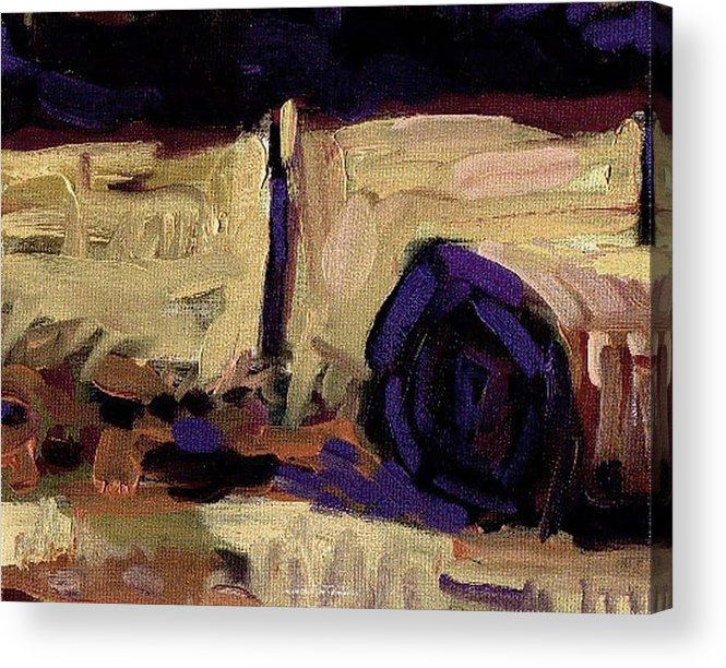 Rob Owen Acrylic Print featuring the painting Hay Bale Nfs by Rob Owen