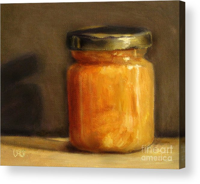 Honey Acrylic Print featuring the painting Heather Honey 1 by Ulrike Miesen-Schuermann