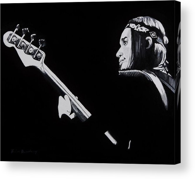 Jaco Acrylic Print featuring the painting Jaco by Brian Broadway
