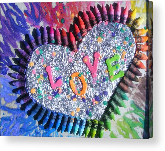 Love Acrylic Print featuring the mixed media Love by Misty Clark