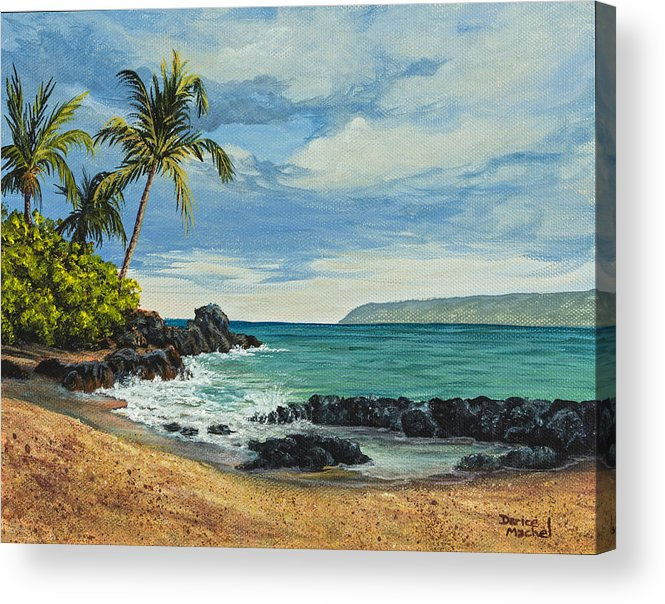 Seascape Acrylic Print featuring the painting Makena Beach by Darice Machel McGuire