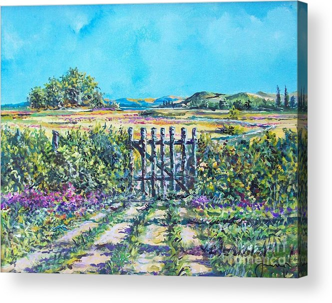 Nature Acrylic Print featuring the painting Mary's Field by Sinisa Saratlic