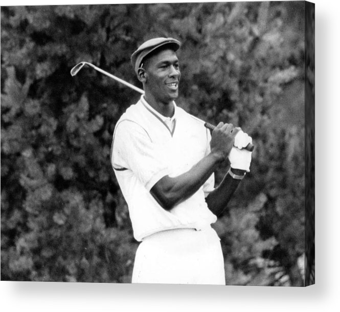 Classic Acrylic Print featuring the photograph Michael Jordan Playing Golf by Retro Images Archive