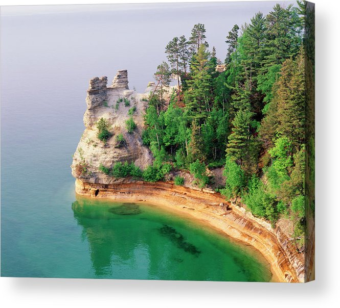 Pictured Rocks National Lakeshore Acrylic Print featuring the photograph Miners Castle In Pictured Rocks by Danita Delimont
