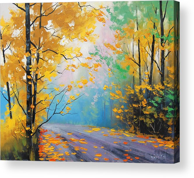 Acrylic Print featuring the painting Misty Autumn Day by Graham Gercken