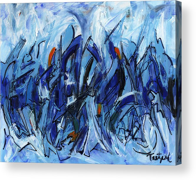 Modern Acrylic Print featuring the painting Modern Art Eleven by Lynne Taetzsch