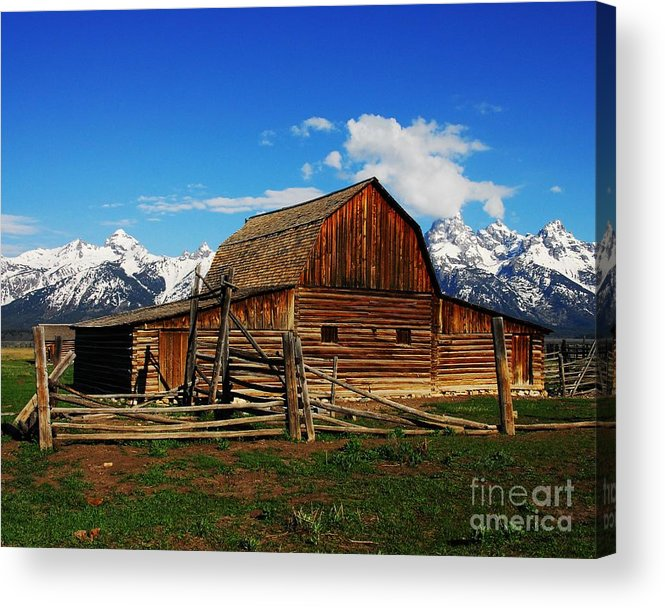 Moutons Barn Acrylic Print featuring the photograph Moultons Barn 1 by Mel Steinhauer