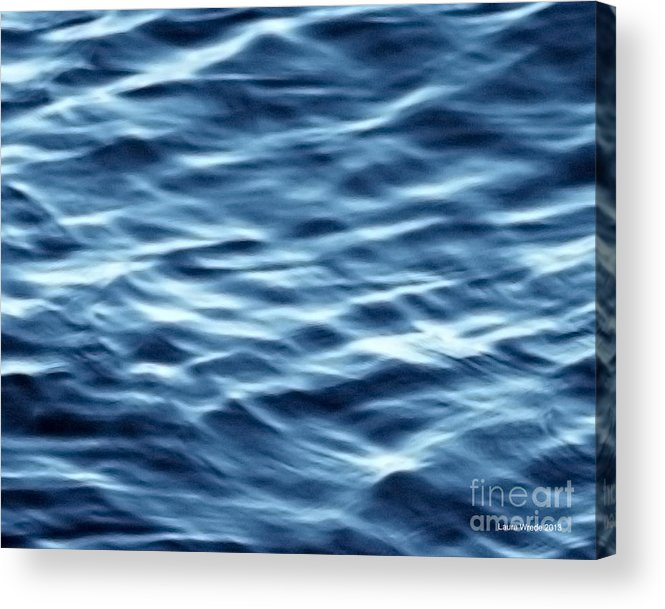 Ocean Art Acrylic Print featuring the photograph Ocean Ripples by Artist and Photographer Laura Wrede