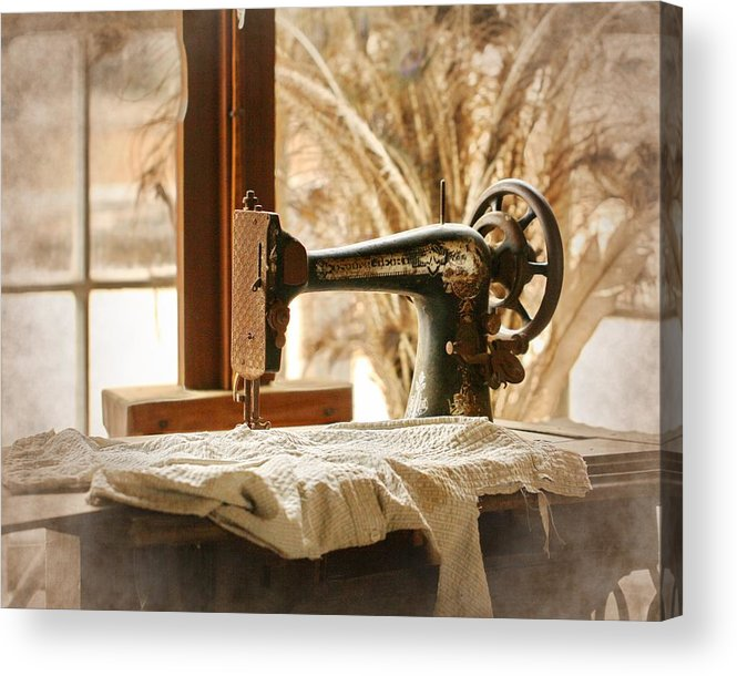 Old Sewing Machine Acrylic Print By Terry Fleckney Magnificent Old Sewing Machine