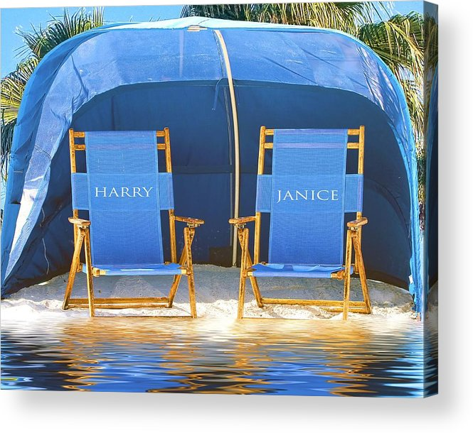 Beach Chairs Acrylic Print featuring the photograph Our Island by Stephen Warren
