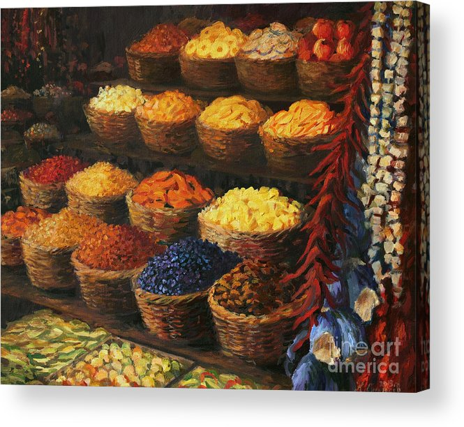 Fruits Acrylic Print featuring the painting Palette Of The Orient by Kiril Stanchev