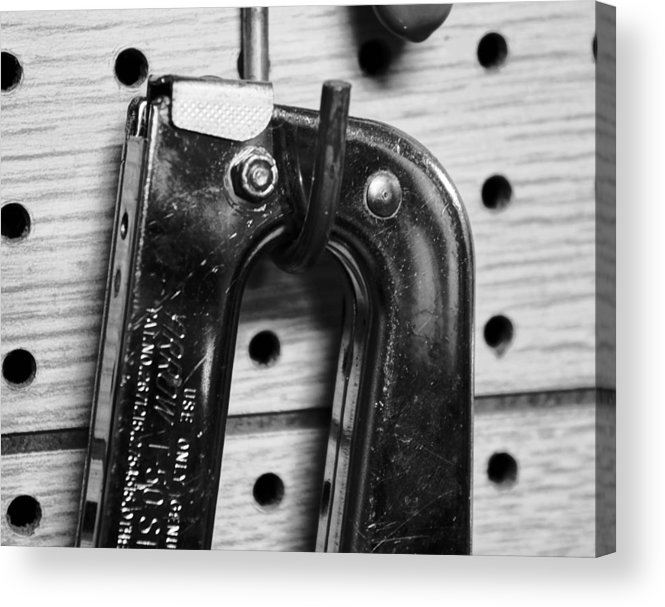 Art Acrylic Print featuring the pyrography Ping Tool by Anthony Cummigs