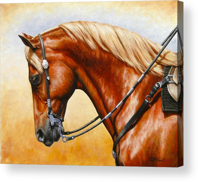 Horse Acrylic Print featuring the painting Precision - Horse Painting by Crista Forest