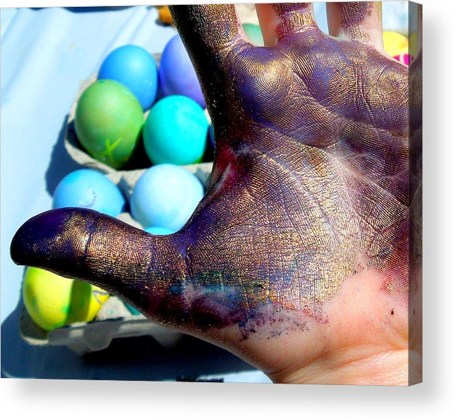 Hand Acrylic Print featuring the photograph Purple And Gold Thumb by Heidi Manly