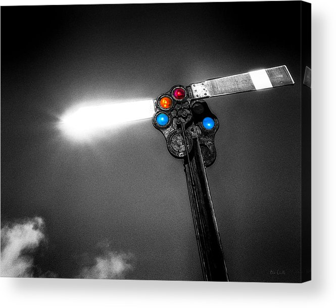 Trains Acrylic Print featuring the photograph Railroad Signal by Bob Orsillo
