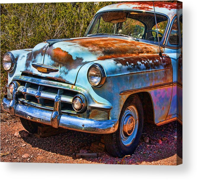 1953 Chevy Acrylic Print featuring the photograph Rusty by Ron Metz