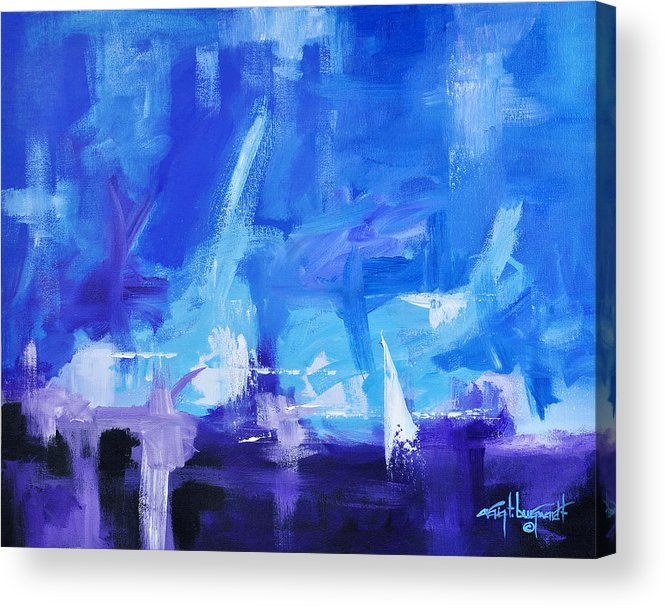 Abstract Acrylic Print featuring the painting Sailing Away by Craig Burgwardt