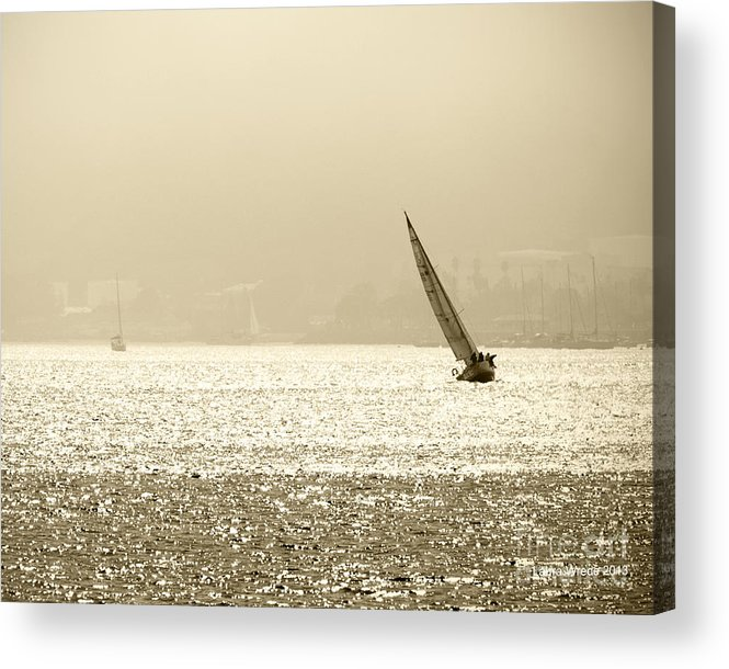 Sailing In San Diego Acrylic Print featuring the photograph Sailing In San Diego Harbor by Artist and Photographer Laura Wrede