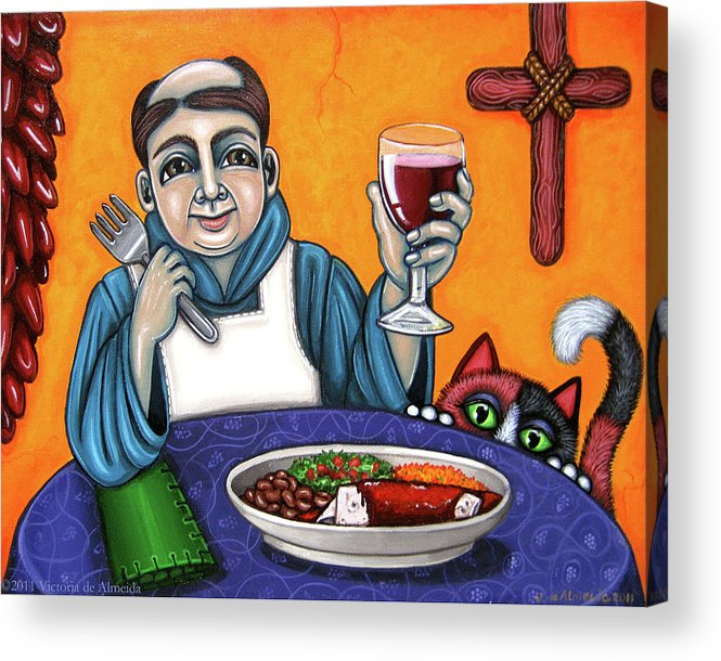 San Pascual Acrylic Print featuring the painting San Pascual Cheers by Victoria De Almeida
