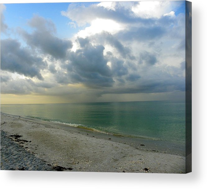 Florida Acrylic Print featuring the photograph Sanibel Storm by Judy Wanamaker