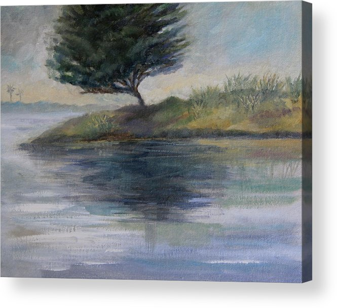 Ventura Acrylic Print featuring the painting Silent Conversations by Jan Cipolla