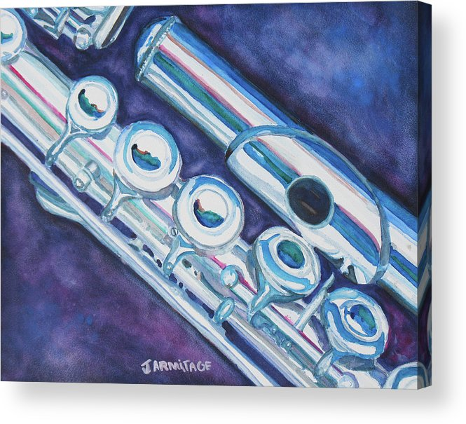 Flute Acrylic Print featuring the painting Some Assembly Required by Jenny Armitage