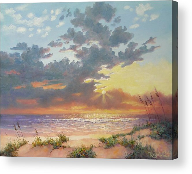 Seascape Acrylic Print featuring the painting South Padre Island Splendor by Carol Reynolds