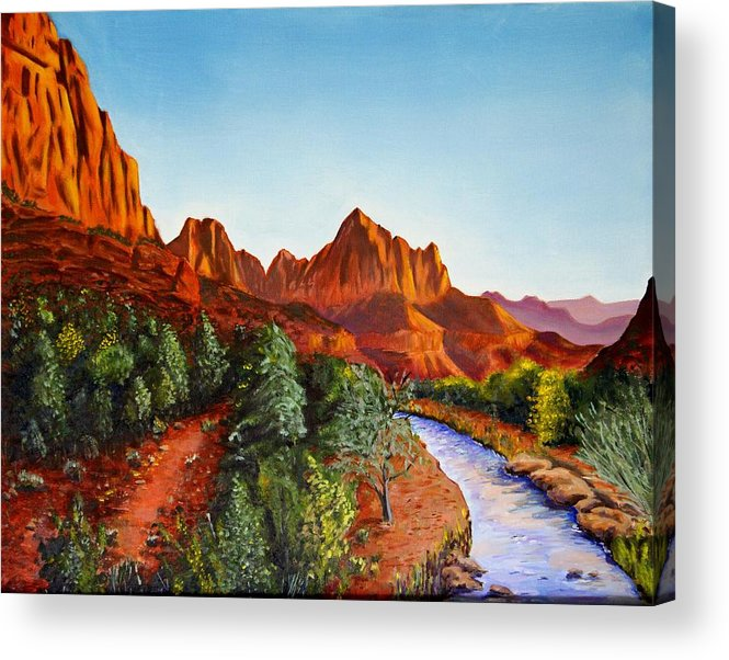 Southwest Acrylic Print featuring the painting Southwest Afternoon by Alan Conder