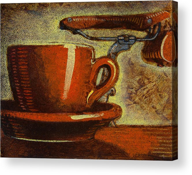 Coffee Acrylic Print featuring the painting Still Life With Racing Bike by Mark Jones