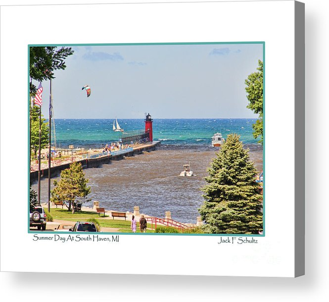 South Haven Acrylic Print featuring the photograph Summer Day At South Haven Mi by Jack Schultz