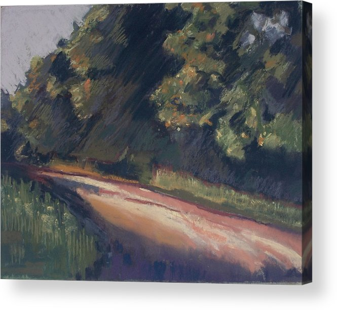 Dirt Roads Acrylic Print featuring the pastel Summer Roads by Grace Keown