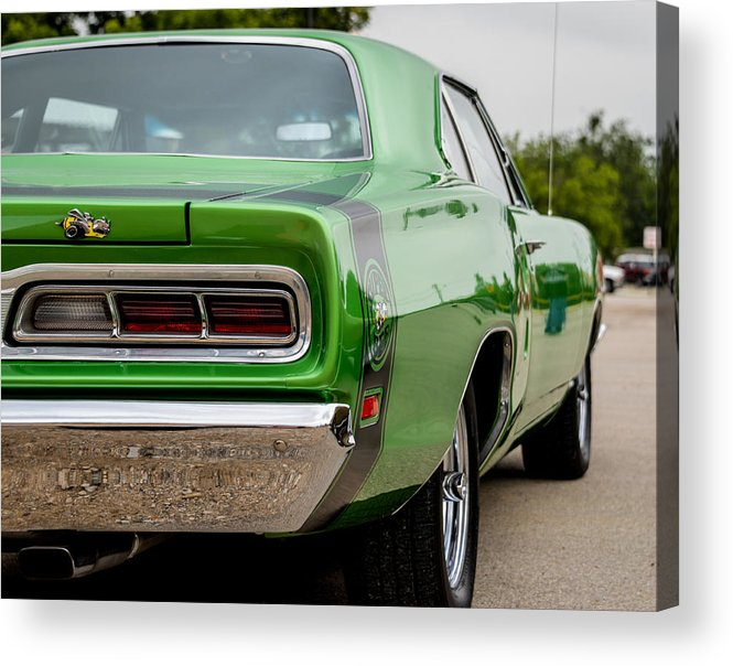 Dodge Acrylic Print featuring the photograph Super Bee In Green by David Jeffries