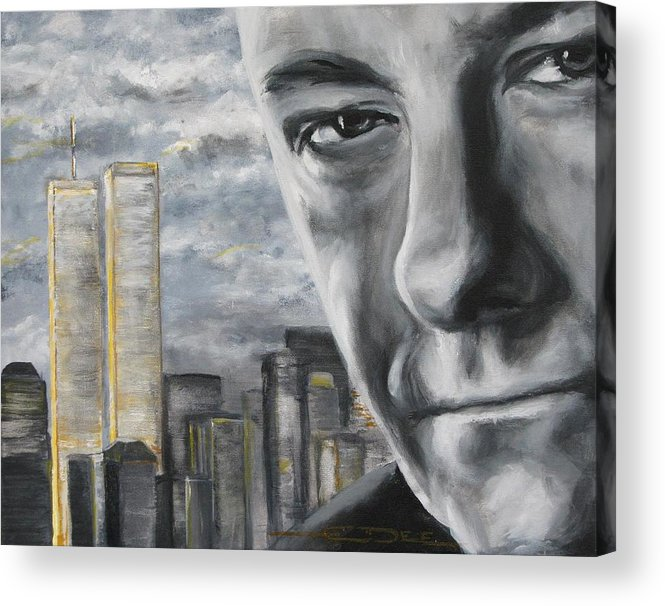 Soprano Acrylic Print featuring the painting T And The Wtc by Eric Dee
