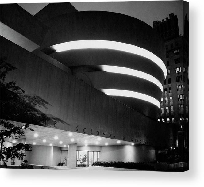 Solomon R. Guggenheim Museum Acrylic Print featuring the photograph The Guggenheim Museum In New York City by Eveyln Hofer