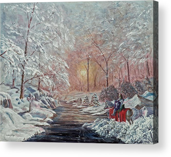 Landscape Acrylic Print featuring the painting The Quest Begins by Anthony Lyon