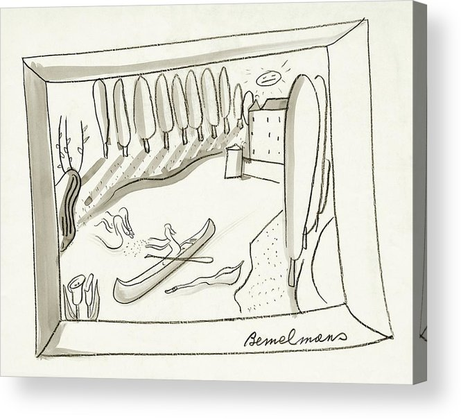 Illustration Acrylic Print featuring the digital art The Rance River In France by Ludwig Bemelmans