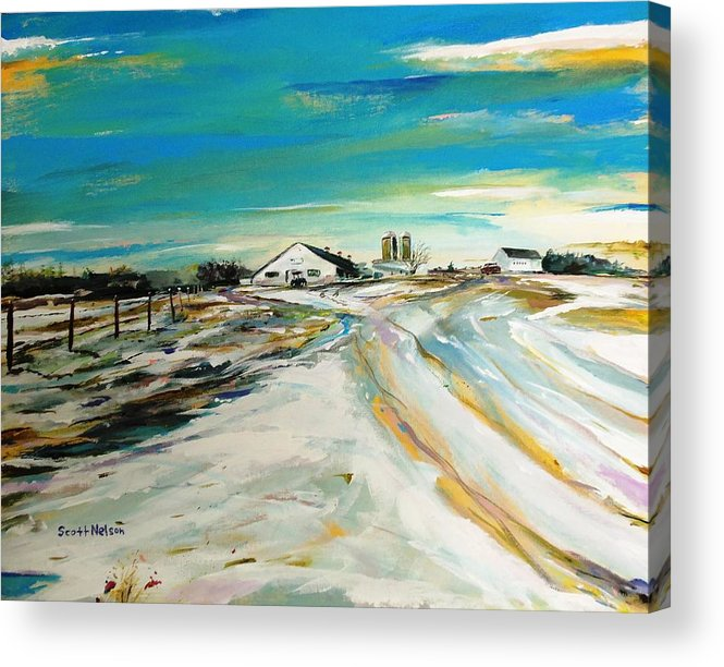 Acylic Acrylic Print featuring the painting Unexpected Dusting Sutton Ma by Scott Nelson