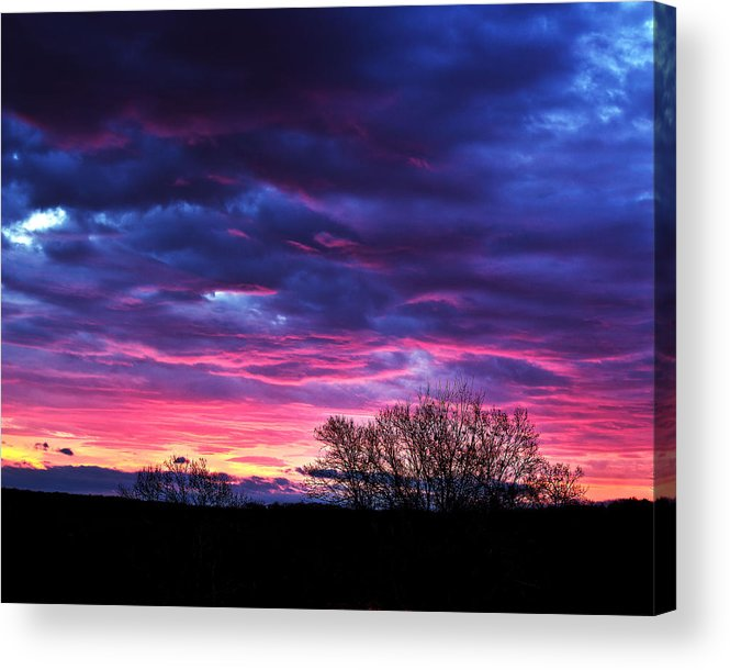 Tim Buisman Acrylic Print featuring the photograph Vibrant Sunrise by Tim Buisman