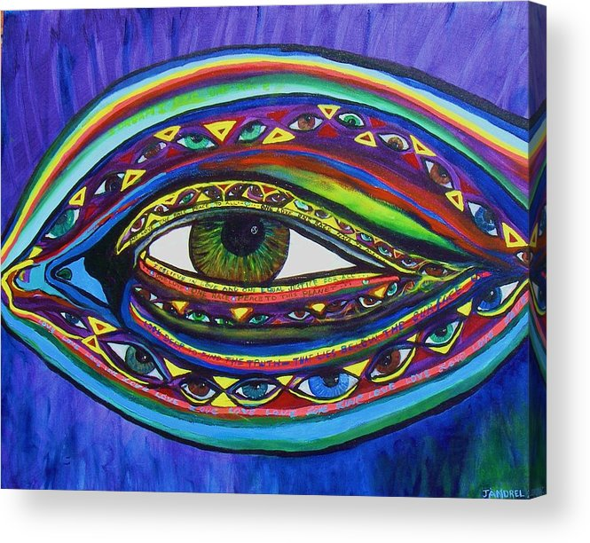 Vision Acrylic Print featuring the painting Vision by J Andrel