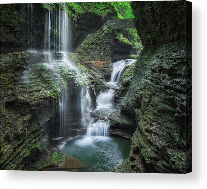 Watkins Glen Acrylic Print featuring the photograph Watkins Glen by Bill Wakeley