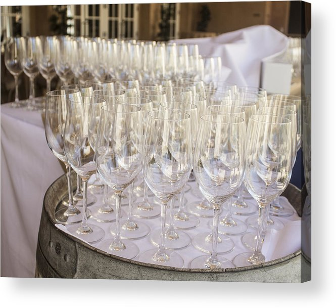 Wine Acrylic Print featuring the photograph Wine Glasses by Dee Savage