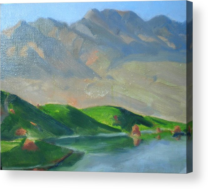 Golf Paridise In Mesquite Acrylic Print featuring the painting Wolf Creek by Bryan Alexander