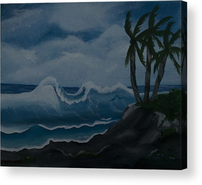 Beach Acrylic Print featuring the painting Beach by Megan Wood