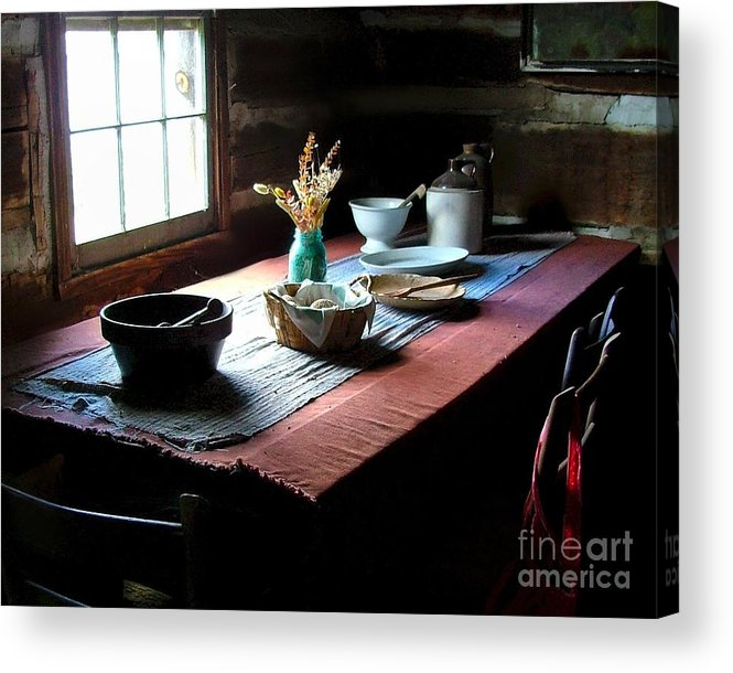 Old Cabins Acrylic Print featuring the photograph Old Cabin Table by Julie Dant