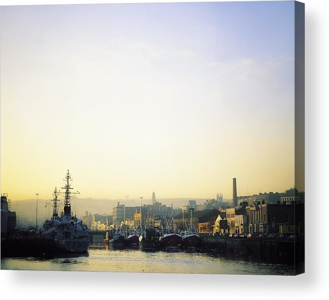 Boat Acrylic Print featuring the photograph River Lee, Cork, Co Cork, Ireland by The Irish Image Collection