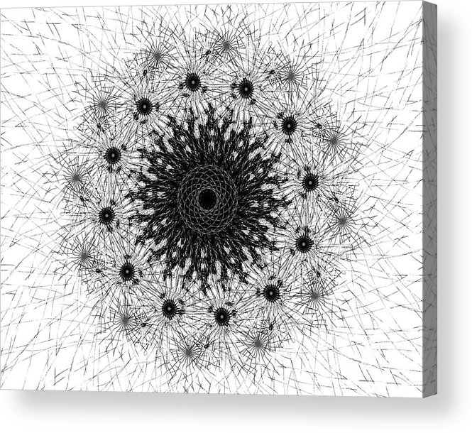 tantra mantra vedic vedic Science abstract Art religious Art Acrylic Print featuring the digital art Tantra by Sanjeev Babbar